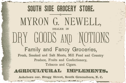 A South Side Grocery ad in the 1997 Greensboro directory