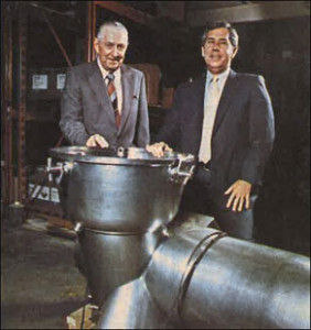 Hase Smith (left) and John Sherrill December 1984.