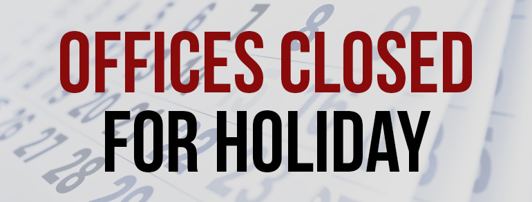 Office closed for Thanksgiving
